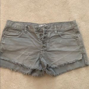 Free people army green shorts